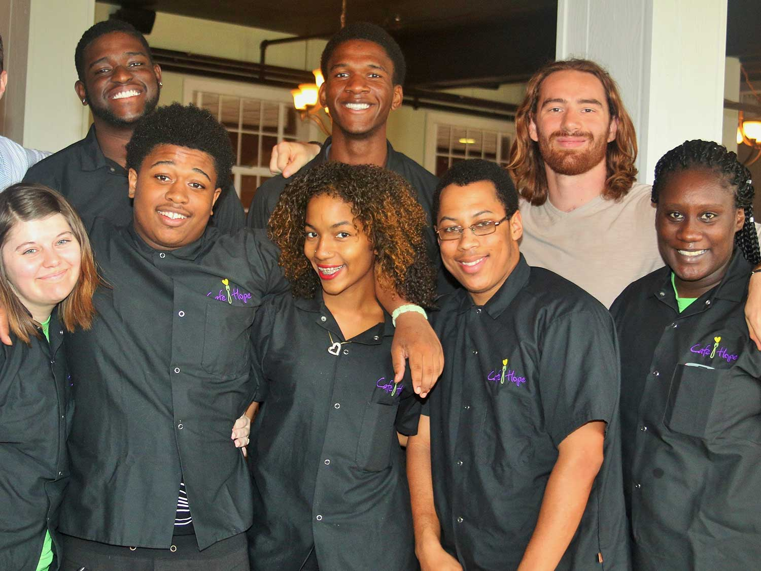 Cafe Hope interns and instructors.