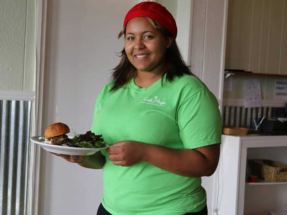 Interns spend equal time training for front-of-house service and the kitchen line.
