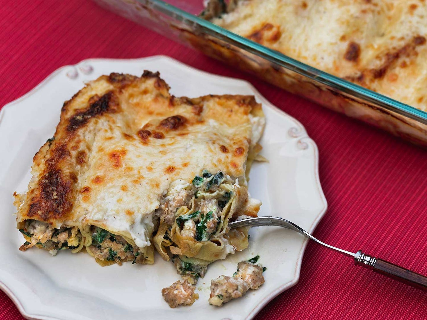 Crespelle with Sausage and Swiss Chard