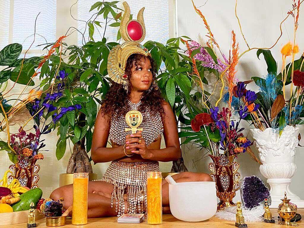 Reclamation Artist Lauren Von Der Pool in her home