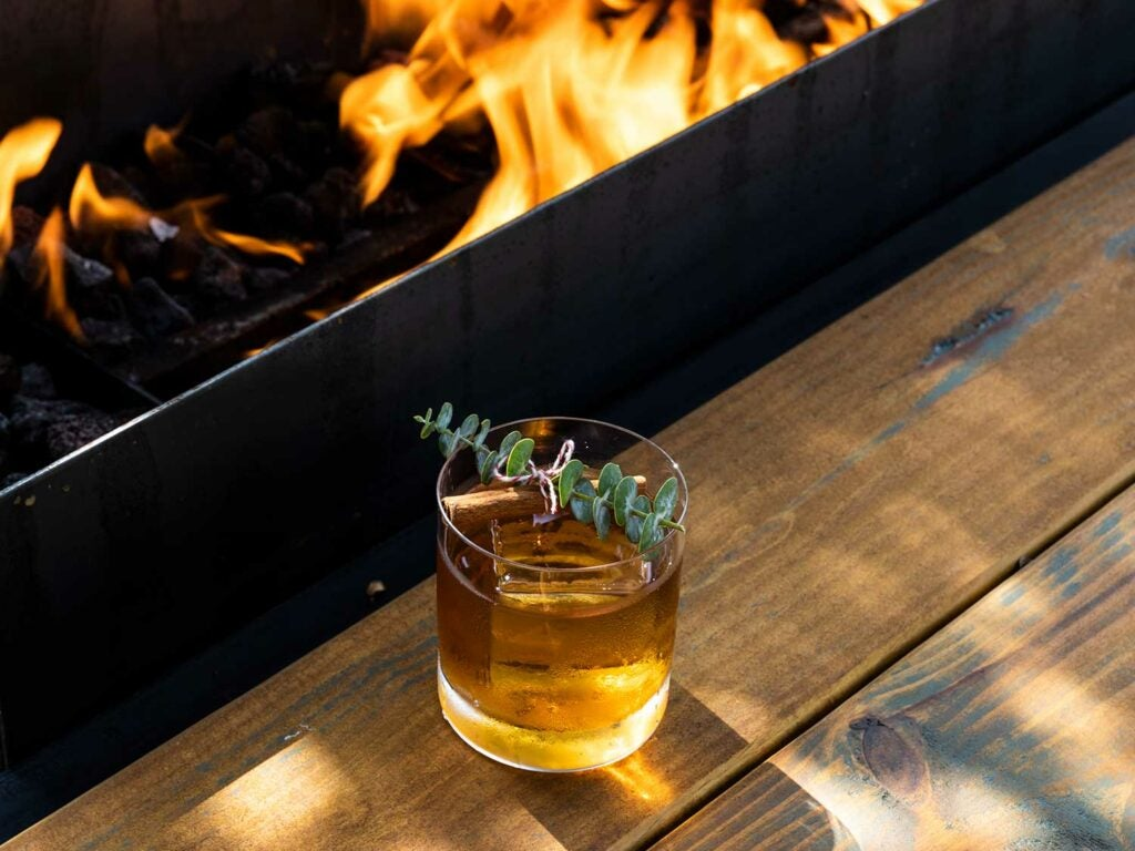 The Nocino old fashioned served at Houston's Rosie Cannonball
