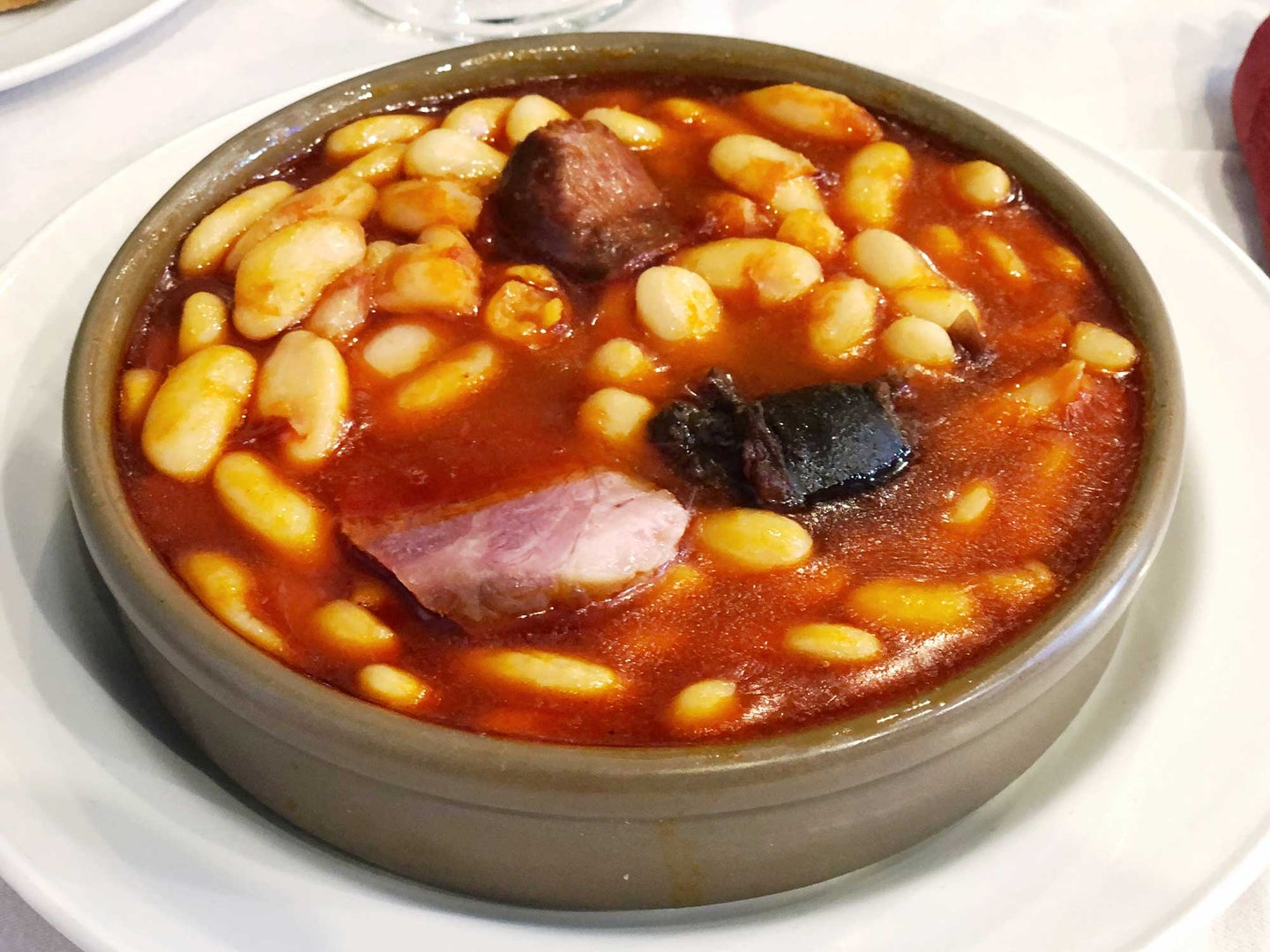 Fabada Asturiana - A comforting pork-and-beans stew from northern Spain.