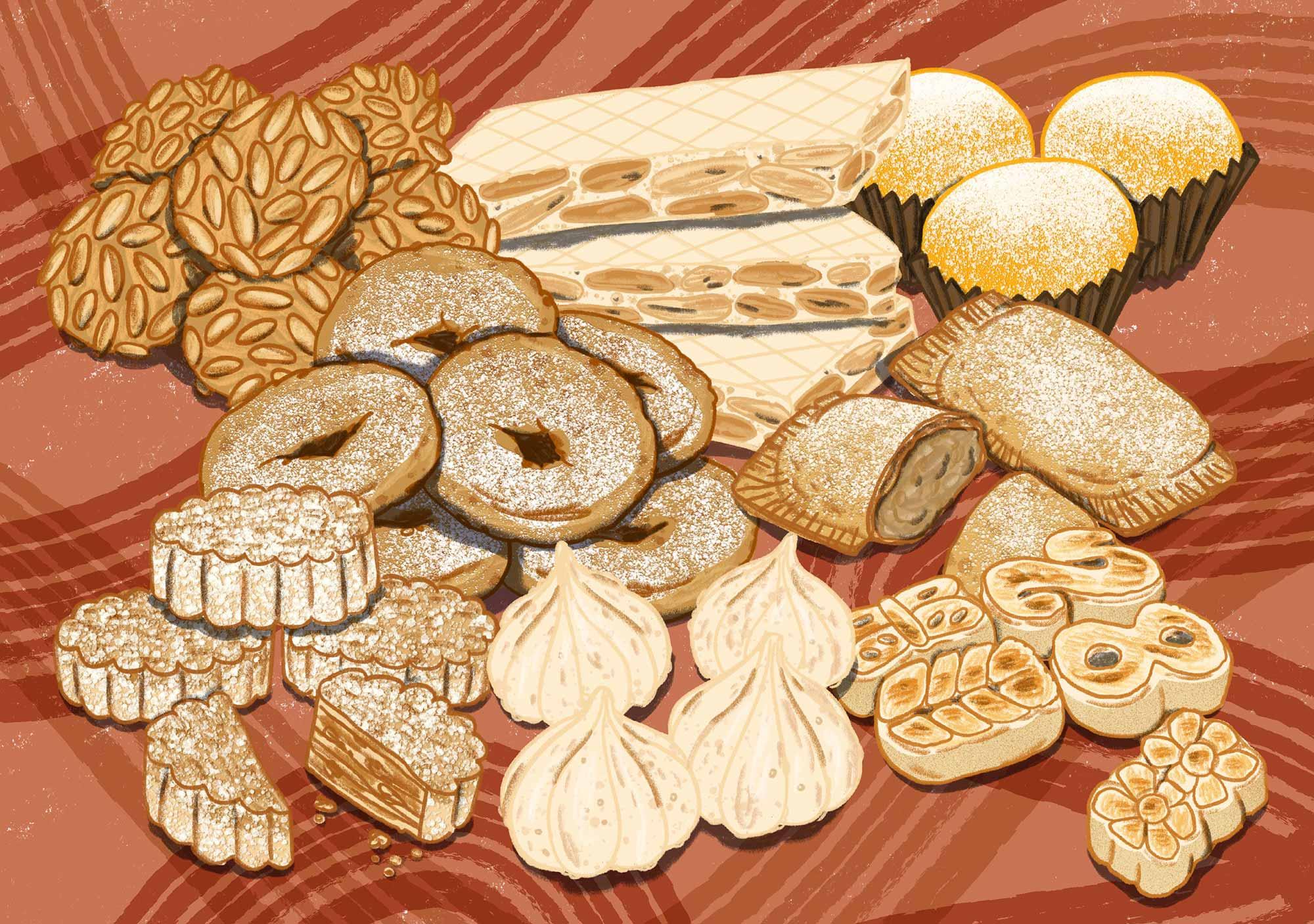 Illustration of Spanish cookies