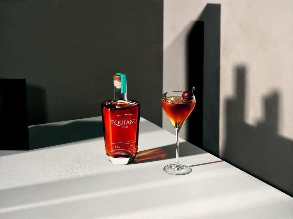 Equiano rum Manhattan cocktail