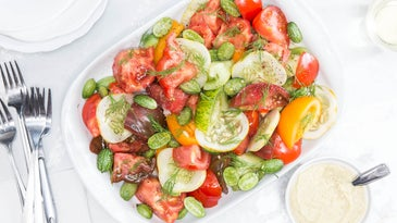 Tomato-Cucumber Salad with Fennel Dressing