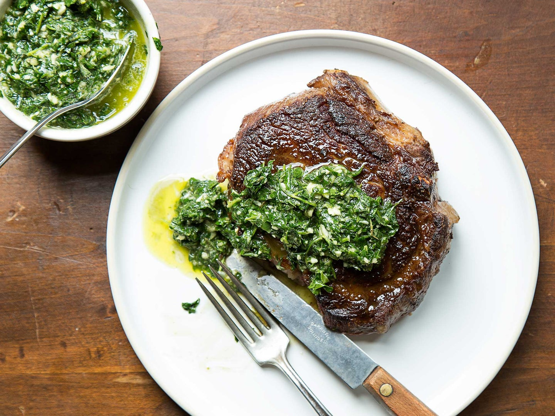 Rib-Eye Steaks with Chimichurri