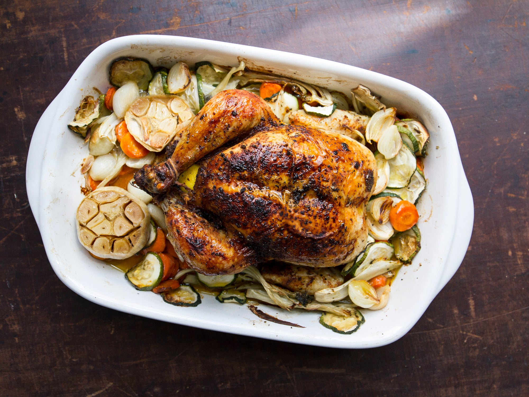 Red Roast Chicken with Lemon and Garlic