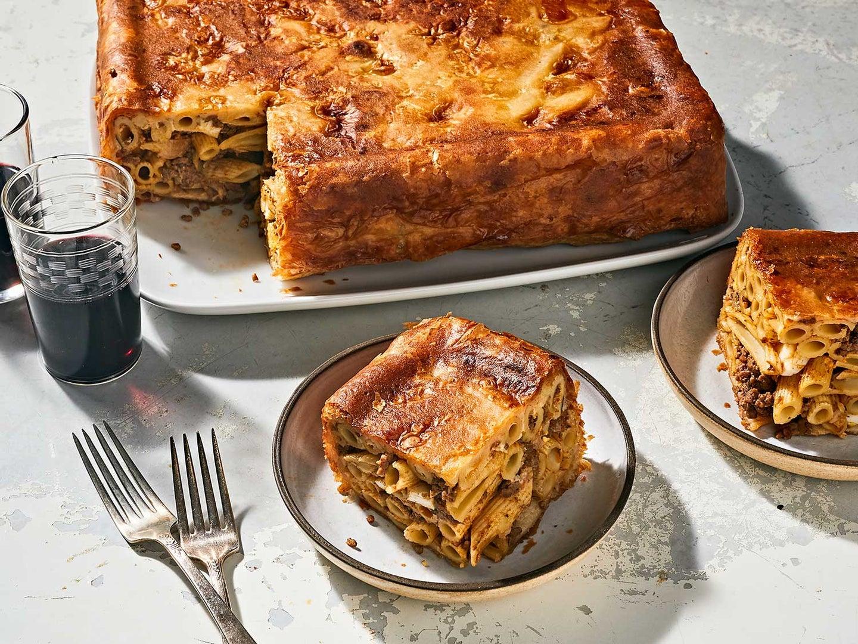 Baked Macaroni in Pastry (Timpana)