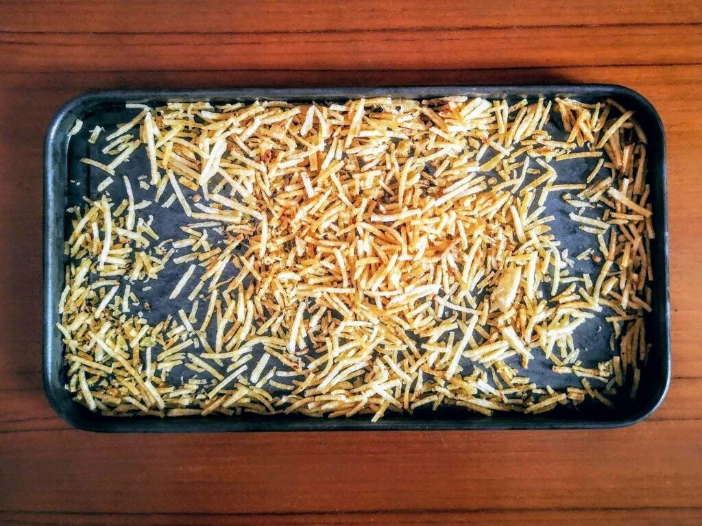 Parsi Sali—crispy fried potato sticks