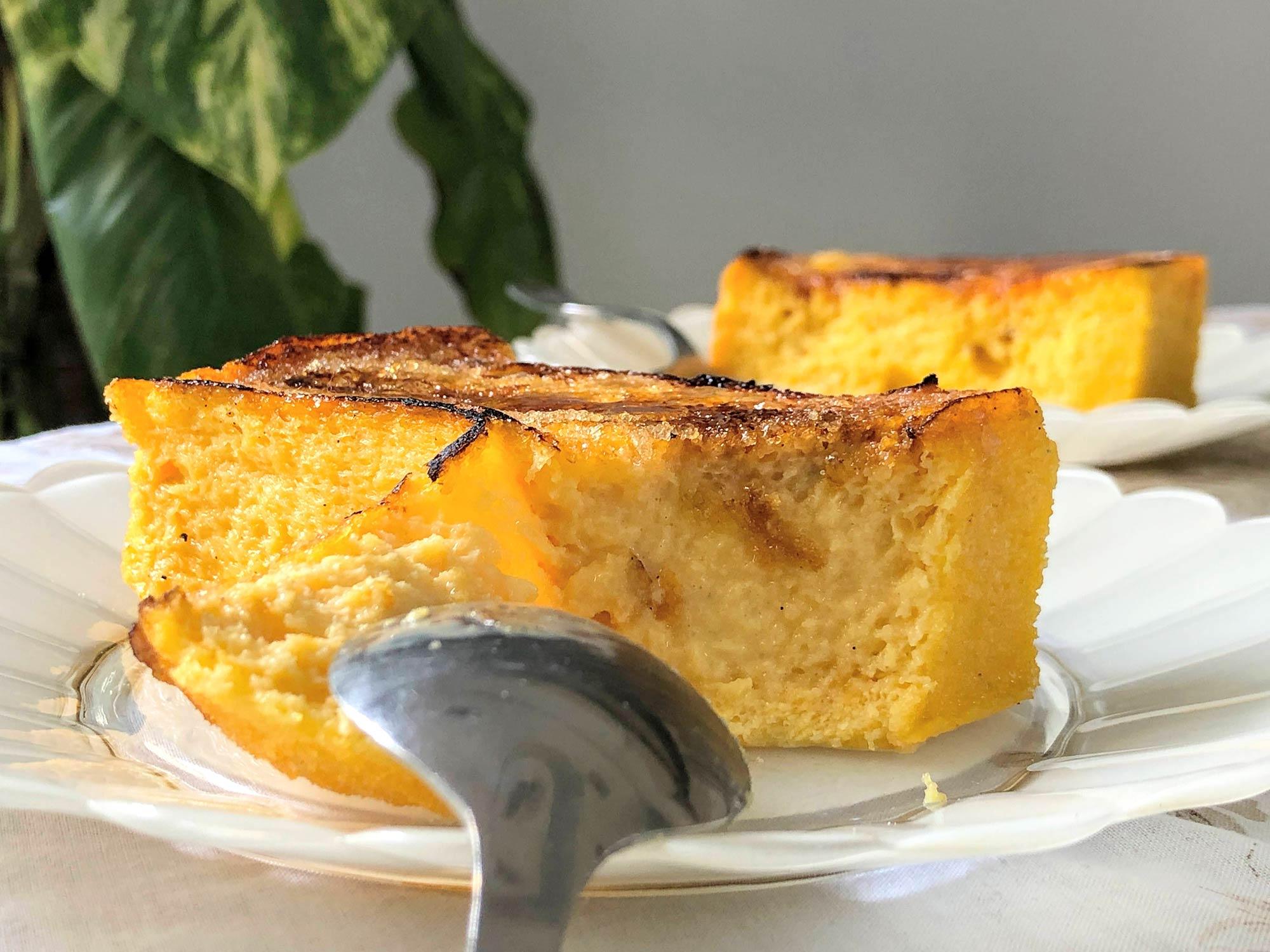 The brûléed, custard-soaked torrija from Panem