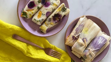 Vegan Floral Botanical Tamales