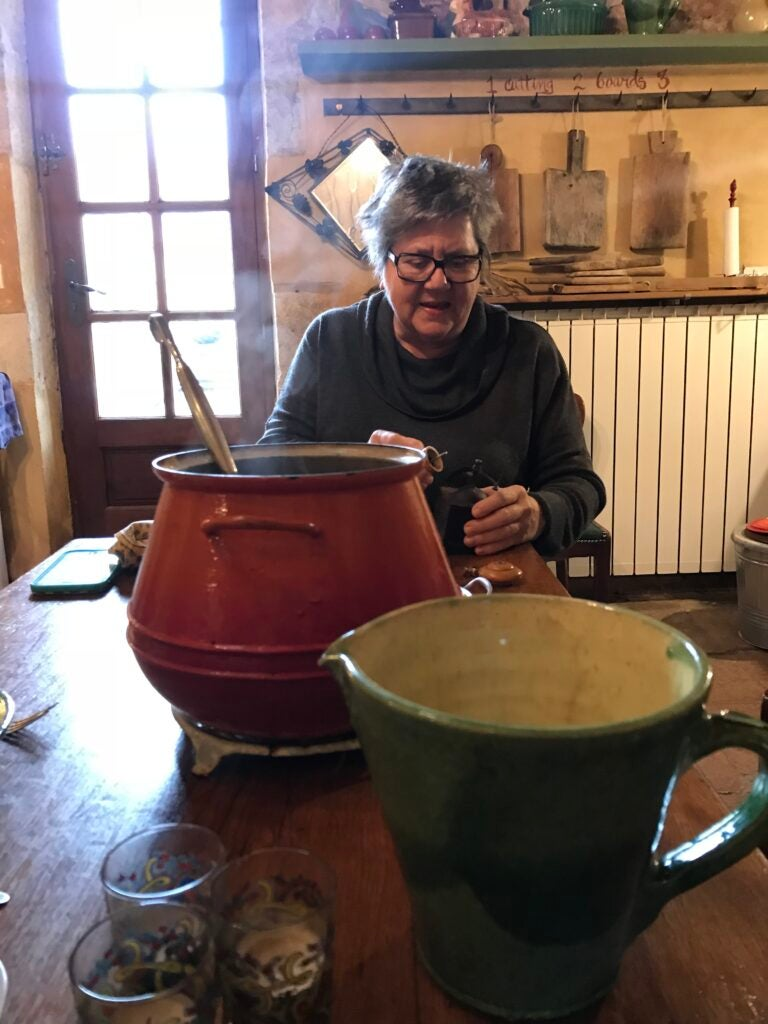 Kate hill in her French farmhouse kitchen.
