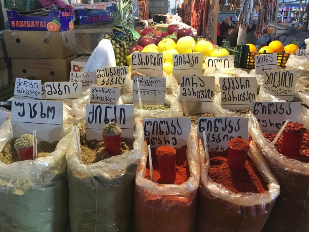 Spices in Tbilisi Marketplace