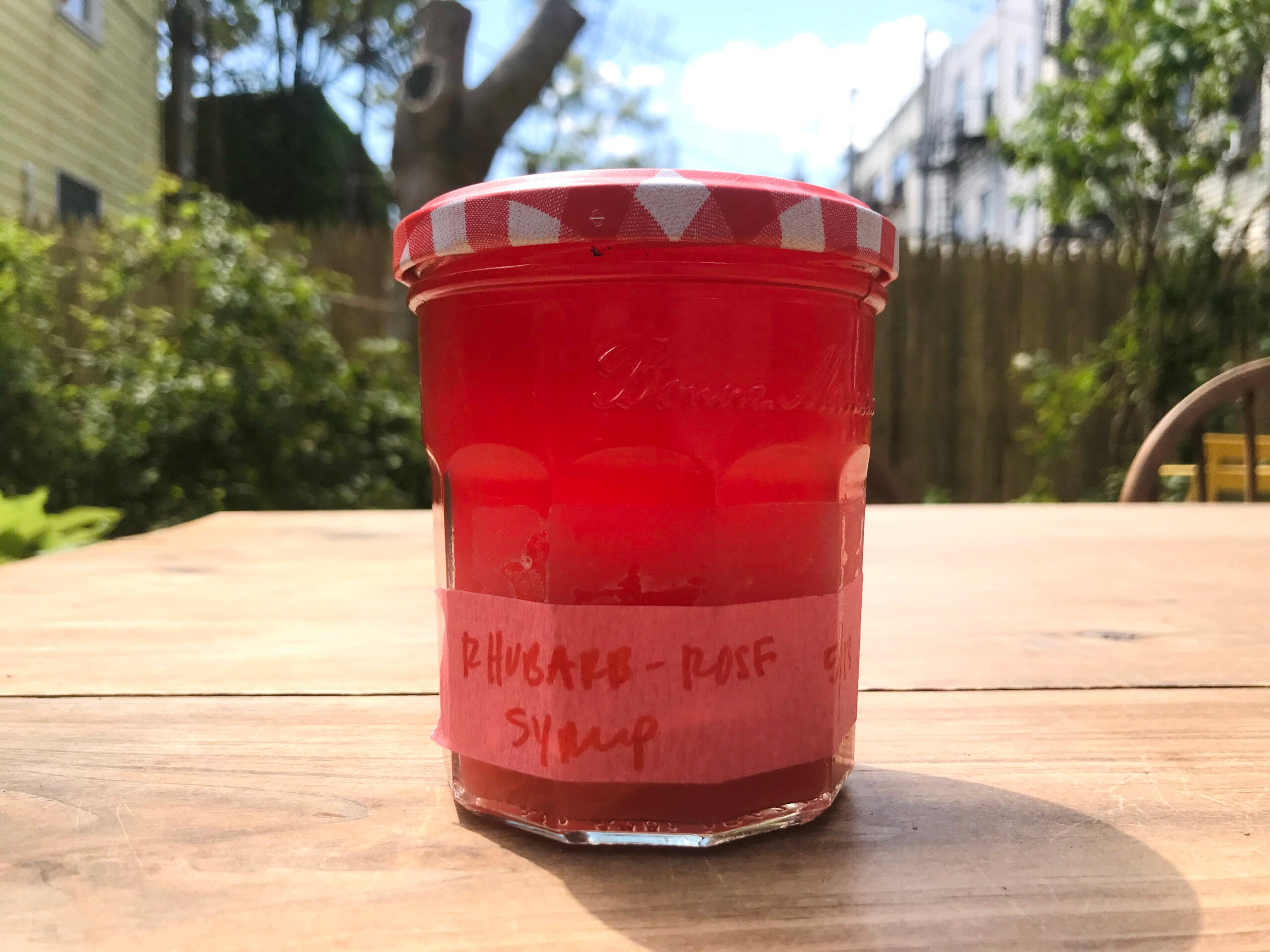 Rhubarb and Rose Syrup