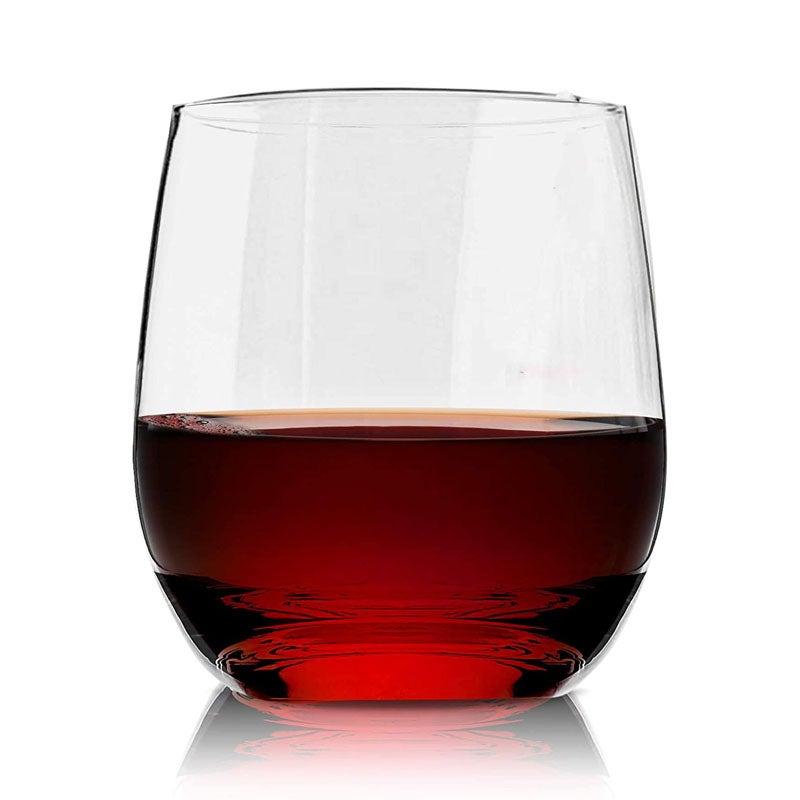he Best Plastic Wine Glasses Option Vivocci Unbreakable Plastic Stemless Wine Glass