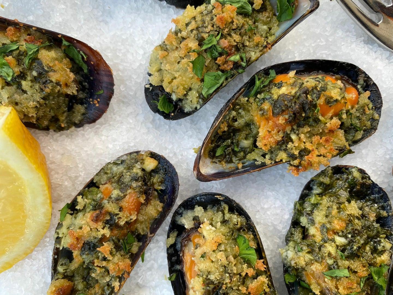 Mussels Rockefeller