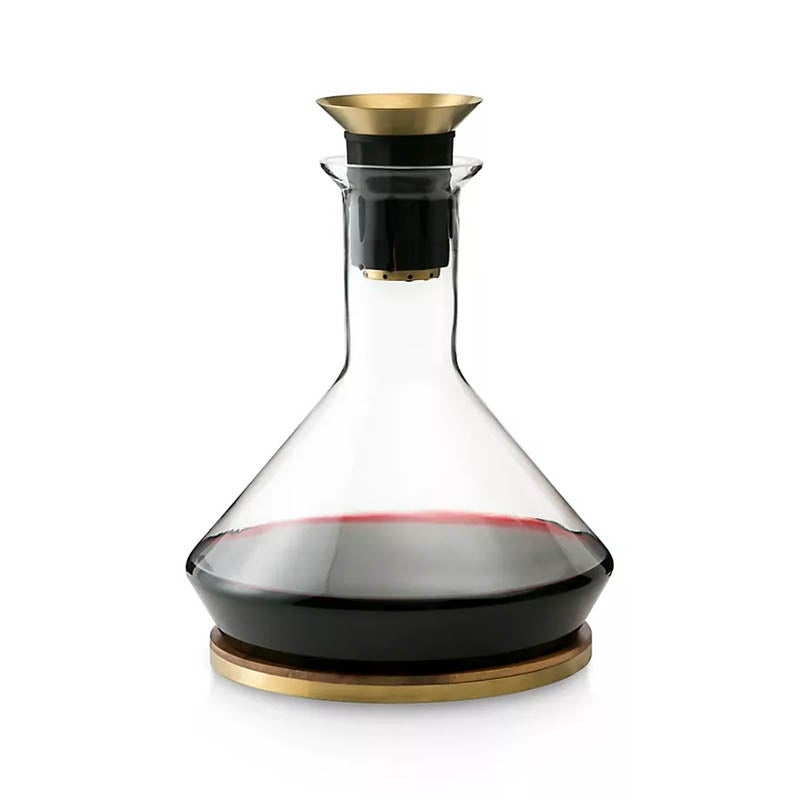 The Best Wine Aerator Option Rabbit RBT with Wood Coaster and Micro-Perforated Aerator