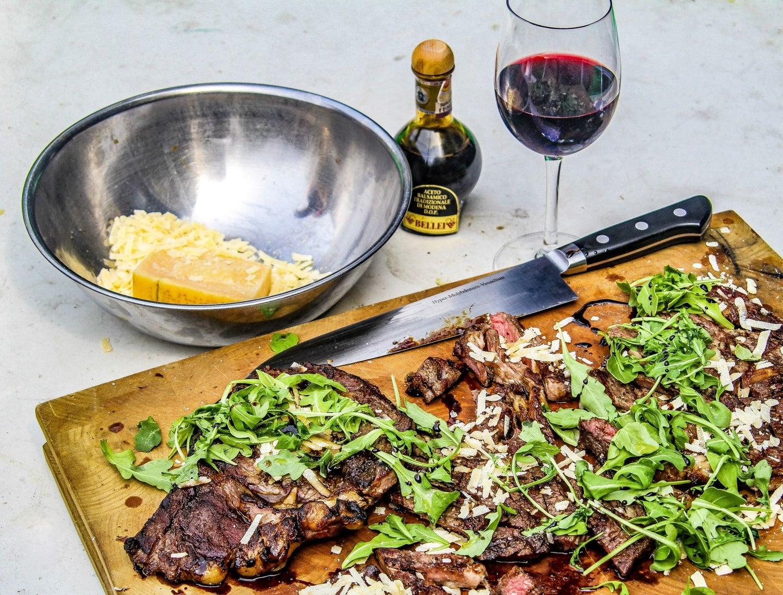 Italian Steak With balsamic vinegar