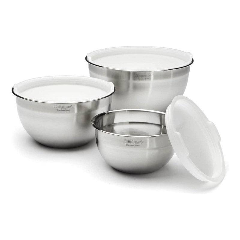 The Best Mixing Bowl Option Cuisinart Stainless Steel Mixing Bowls with Lids