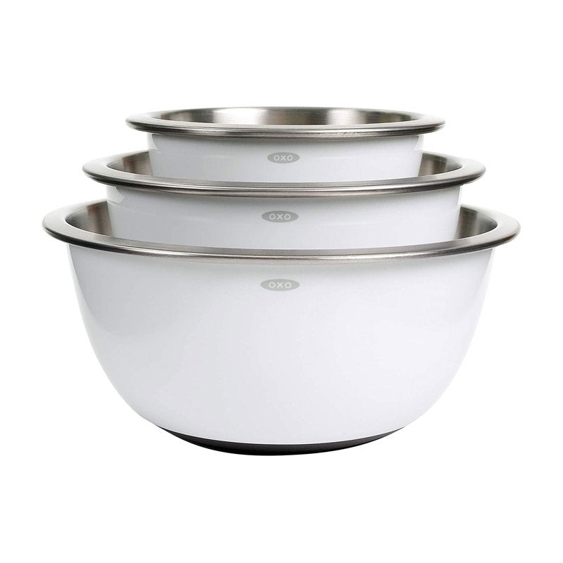 The Best Mixing Bowl Option OXO Good Grips 3-Piece Stainless Steel Mixing Bowl Set