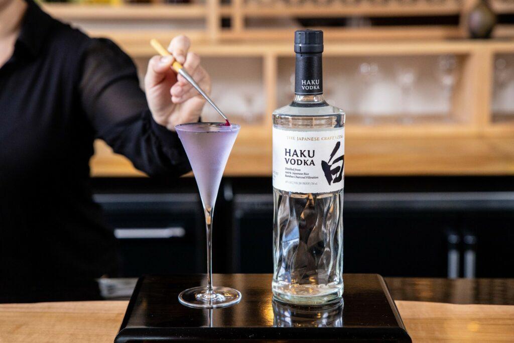 Violets in Rain Suntory Haku Vodka