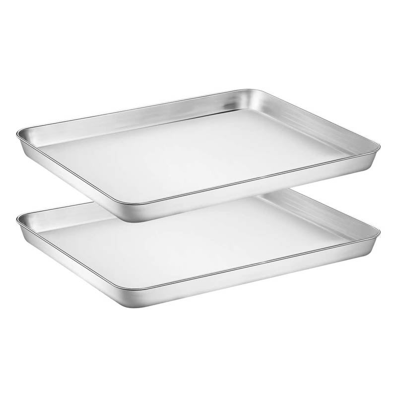 The Best Baking Sheets Option Wildone Stainless Steel Cookie Sheet Set