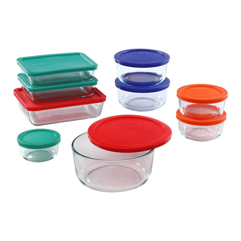 The Best Glass Food Storage Container Option Pyrex Simply Store 18-Piece Set
