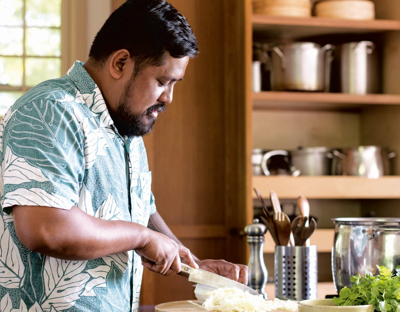 Sheldon Simeon of Cook Real Hawai'i cooking