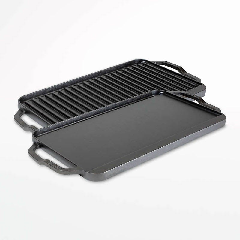 The Best Griddles Option Lodge Chef Collection Seasoned Cast Iron Griddle