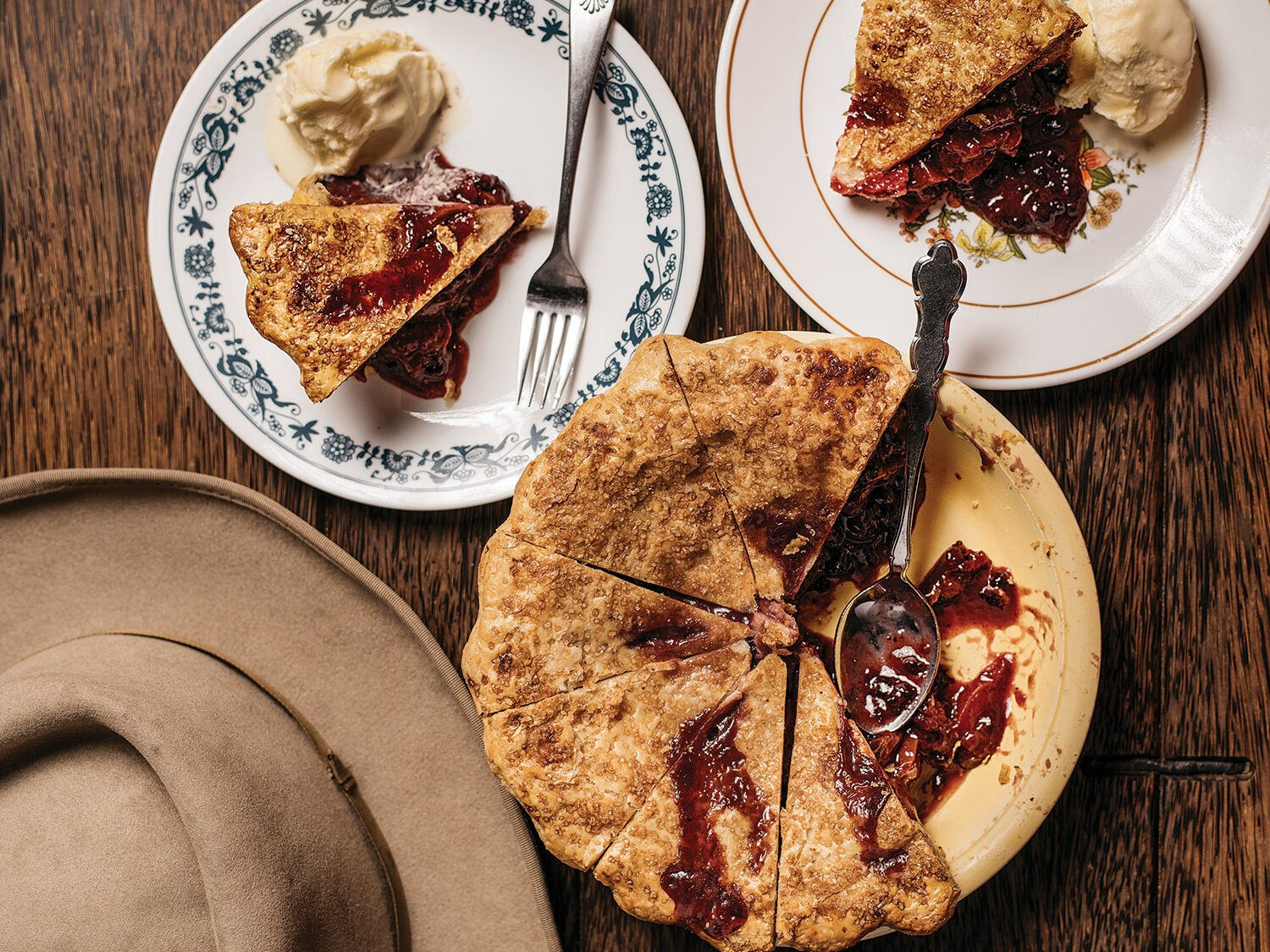 Nectarine and Huckleberry Pie for 4th of July Recipes