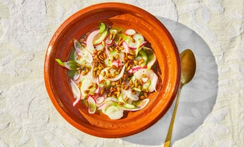 Scallop Aguachile with Mezcal and Pumpkin Seed Oil