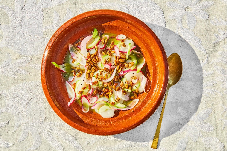 Mezcal Aguachile Recipe on Orange Dish