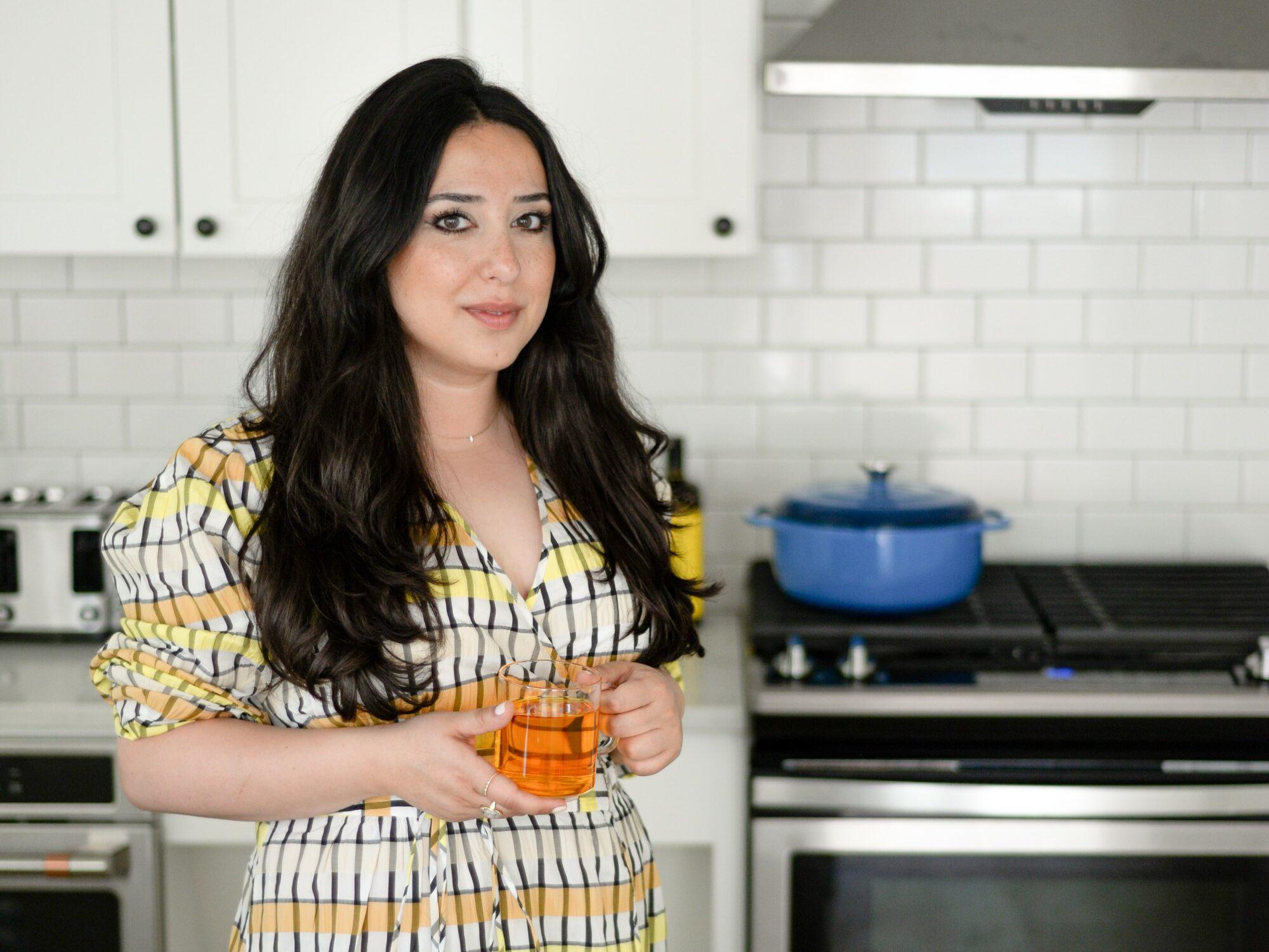 Tahmina Gaffer of Moonflower in Kitchen