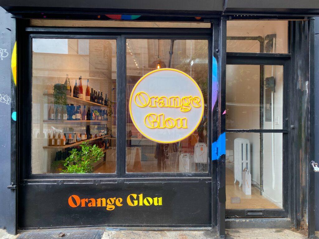 Orange Glou New York City Storefront