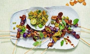 Sweet and Sour Eggplant Satay
