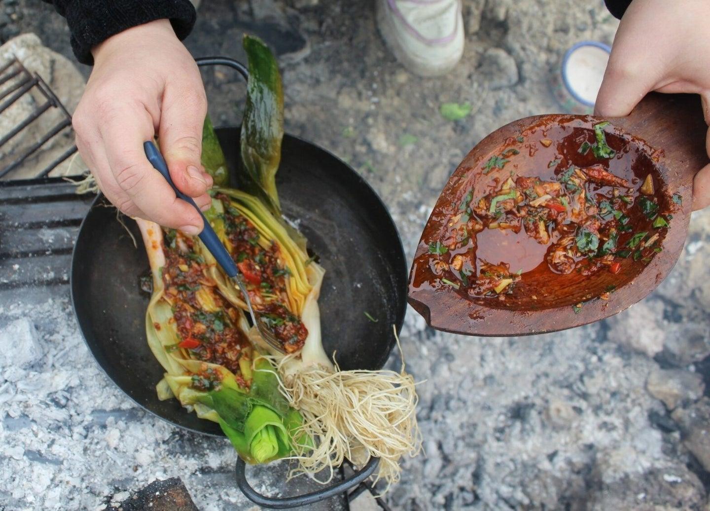 Grilled Argentinian Leeks