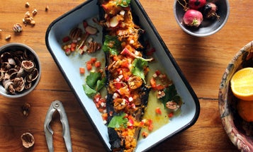 Fire-Roasted Pumpkin with Pecans, Honey, and Jalapeño Dressing