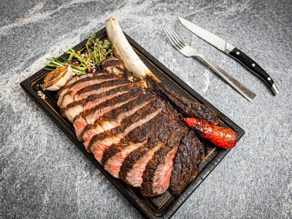 Edge Restaurant at Four Seasons serving steak