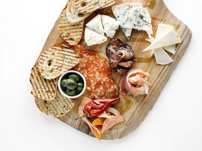 An antipasto platter at Rare Italian