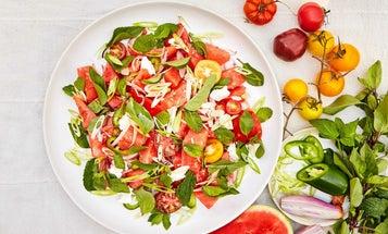 Watermelon, Feta, and Jalapeño Salad