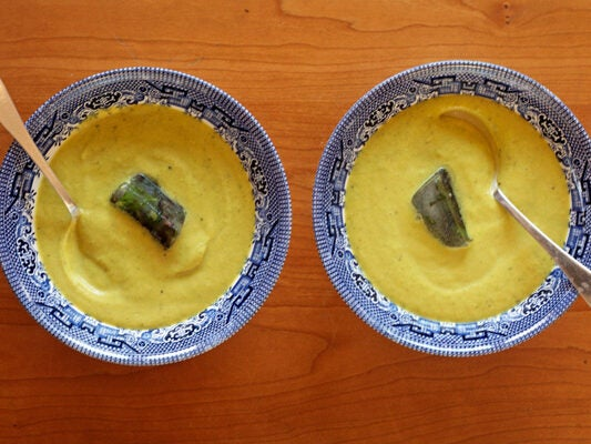 Cold Curried Summer Squash Soup