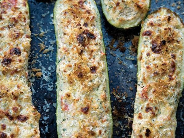 Zucchini Stuffed with Ricotta (Zucchine Ripiene con Ricotta)