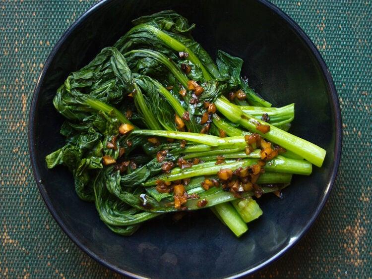 Asian Greens with Garlic Sauce