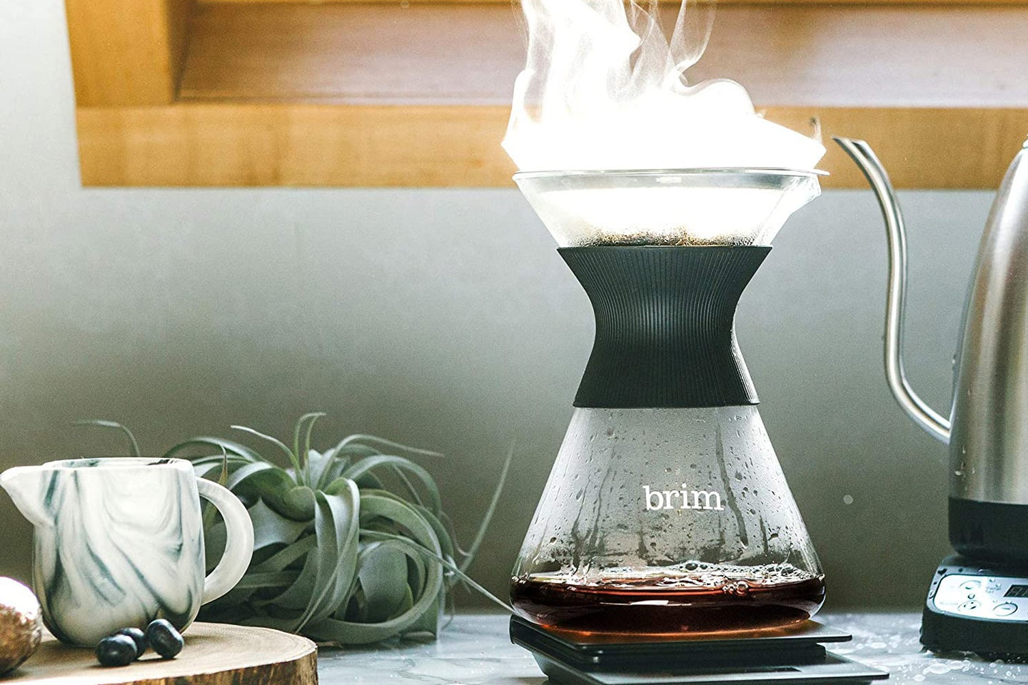 Coffee maker on table