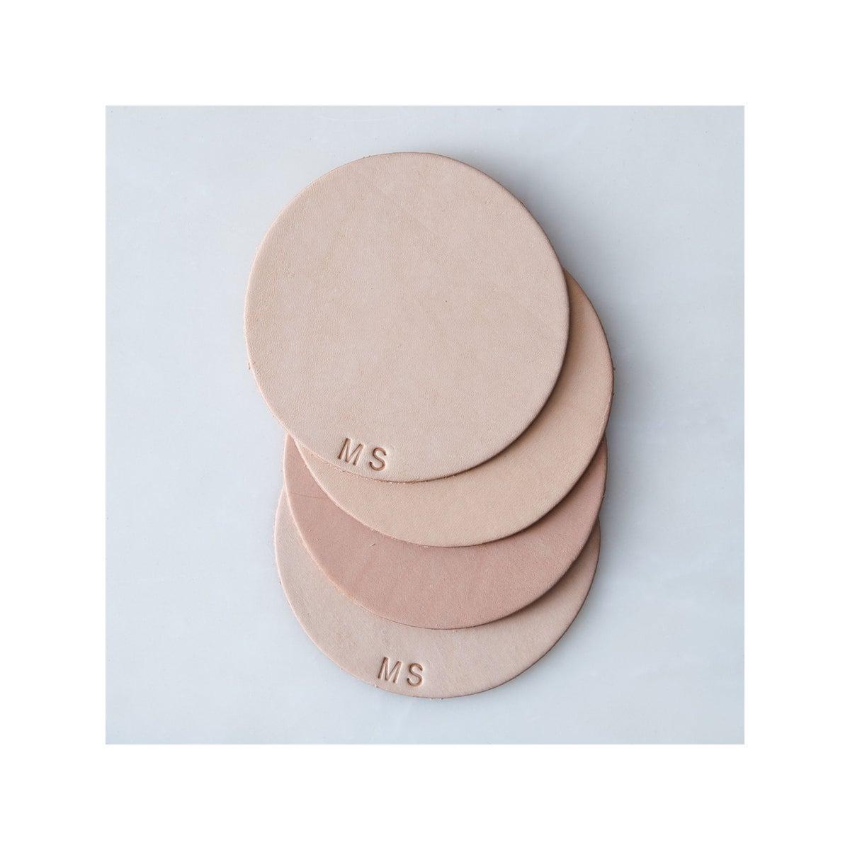 Best Coasters Option Monogram Leather Coasters