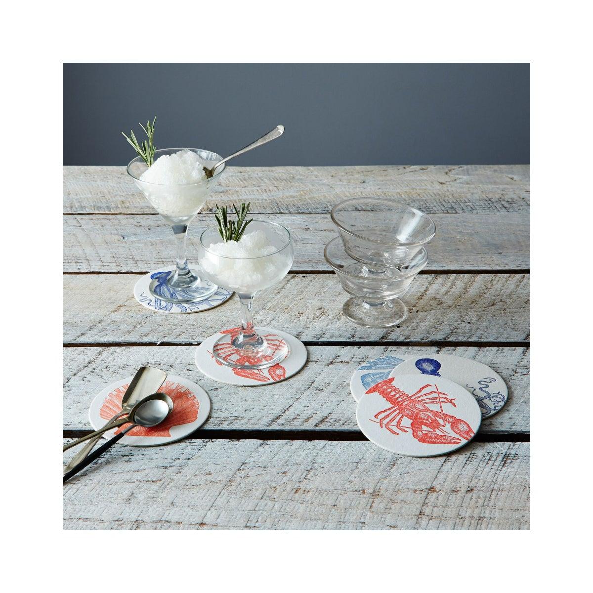 Best Coasters Option Sea Letterpress Coasters