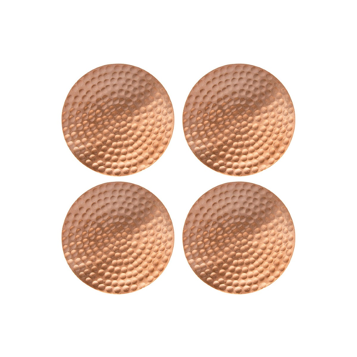 Best Coasters Option_Flat Hammered Copper Coasters