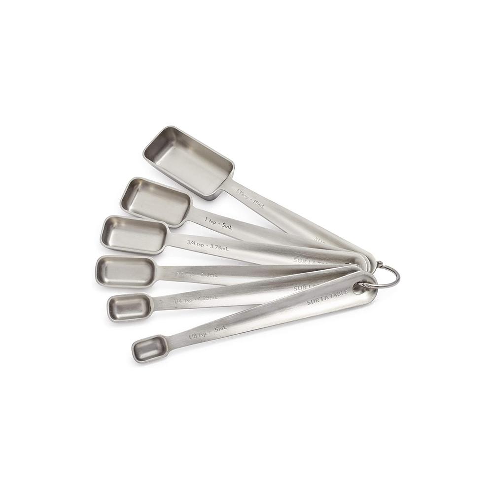 Rectangular Measuring Spoons Steel