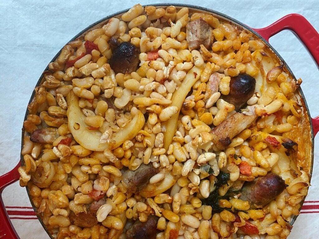 Cuttlefish Cassoulet with Pork Sausage