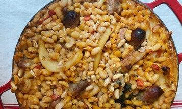 Cassoulet de Seiches à la Gruissanaise (Cuttlefish Cassoulet with Pork Sausage)